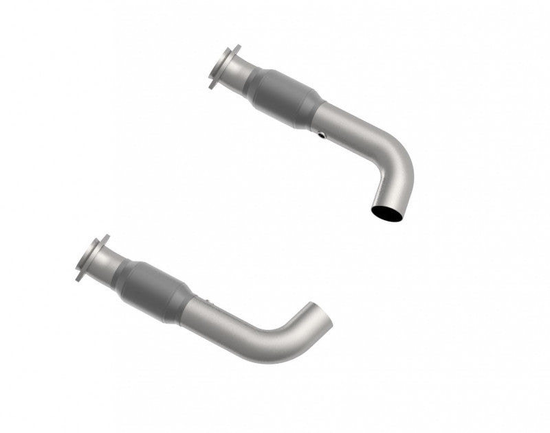 "3"" SS CATTED CONNNECTION PIPES. 2015-2020 MUSTANG GT 5.0L."