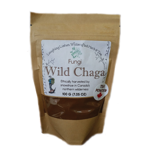 Wild Canadian Chaga Laughing Lichen 100g  Ground