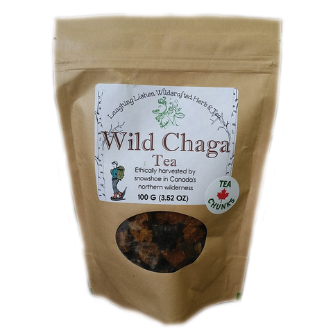 Wild Canadian Chaga Laughing Lichen 100g  Chunks