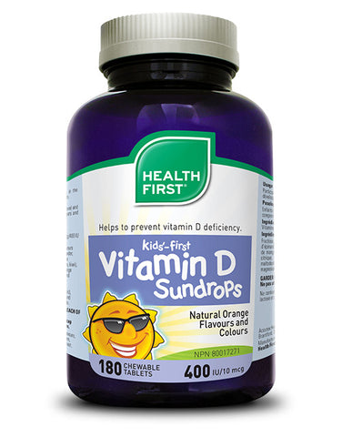 Kids'-First Vitamin D 400 IU (Currently unavailable in the US due to Trademark issues)