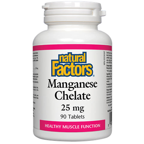 Natural Factors Manganese Chelate 25mg