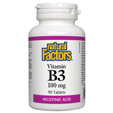 Natural Factors Vitamin B3 (Niacin) 100mg