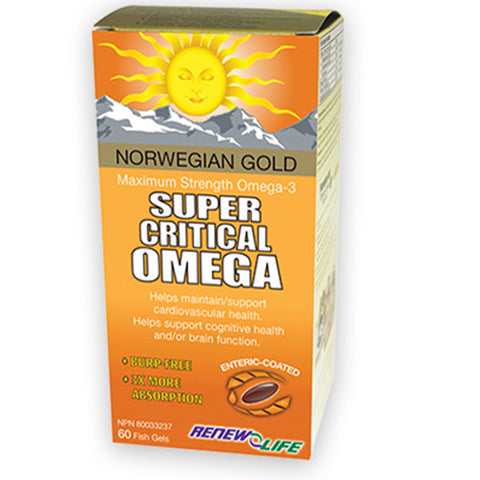 Renew Life Norwegian Gold Super Critical Omega