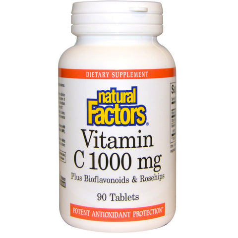 Natural Factors Vitamin C 1000 mg Plus Bioflavonoids & Rosehips