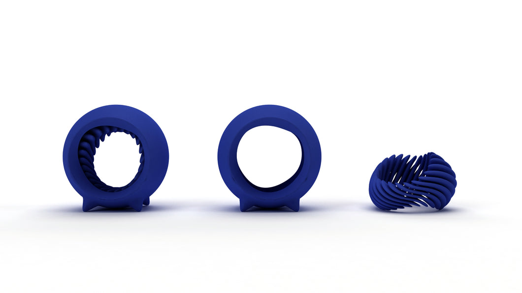 Blue Helix Ring