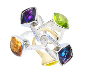 Gerry Summers Amethyst Colourbox Ring