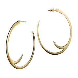 Shaun Leane Large Gold Vermeil Cat Claw Hoop Earrings