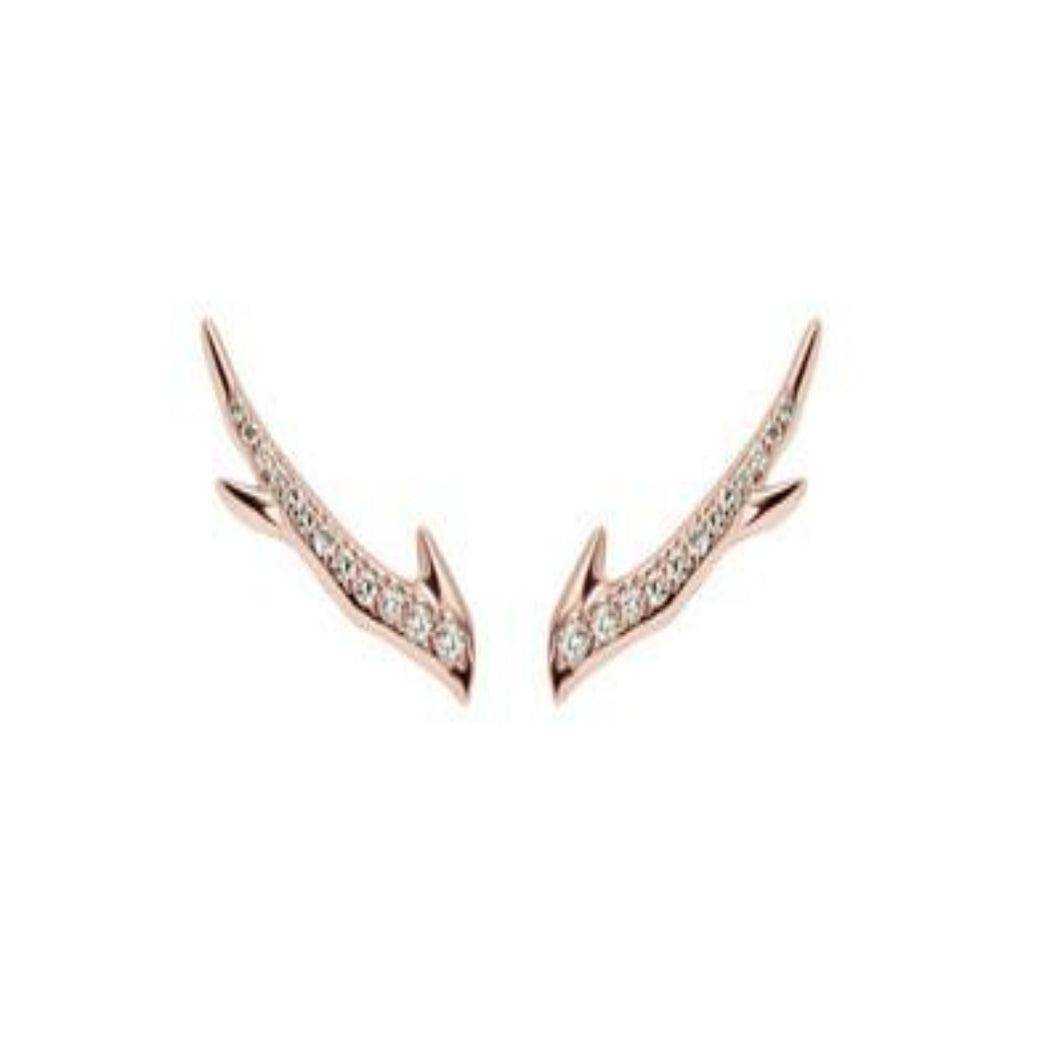 Shaun Leane Rose Gold Cherry Blossom Diamond Branch Earrings