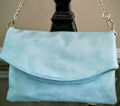 Mint Flap Over Clutch