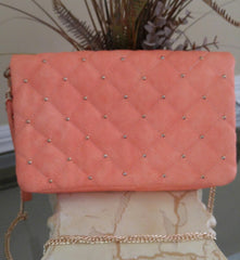 Tea Rose Quilted Clutch
