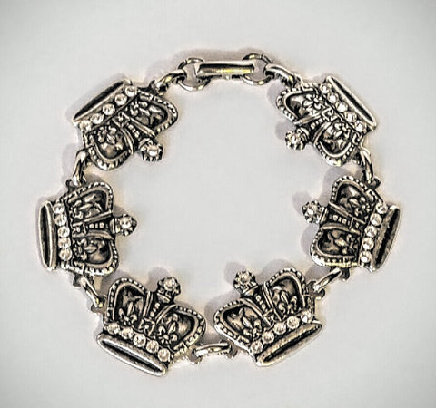 Regal Crown Bracelet with Swarvorski Crystals To Sparkle It Up