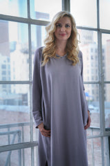 "Urban Muu Muu Long & Short Tunics With Inset Pockets And A Head Band  ""One Of Oprah's Favorite Things""  Soft Cotton You Will Never Want to Take Off!"