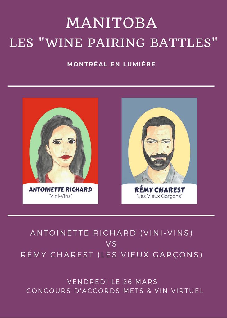 Wine pairing battle: match #3 - 26 mars 19h