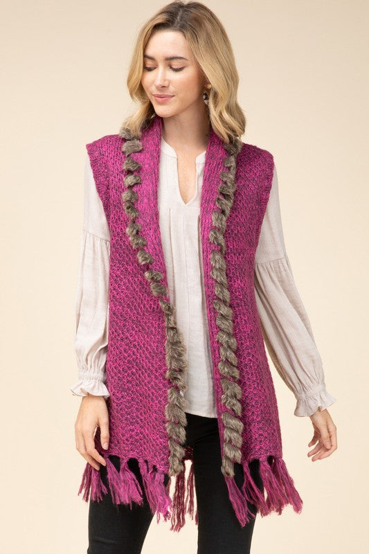 Thinking About You Vest: Plum