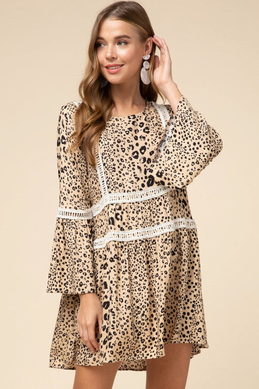 Light Up The Night Dress: Cheetah