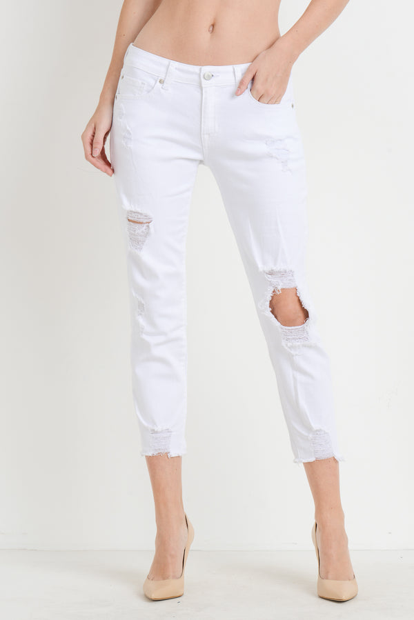 Stars Appear Jeans: White Denim