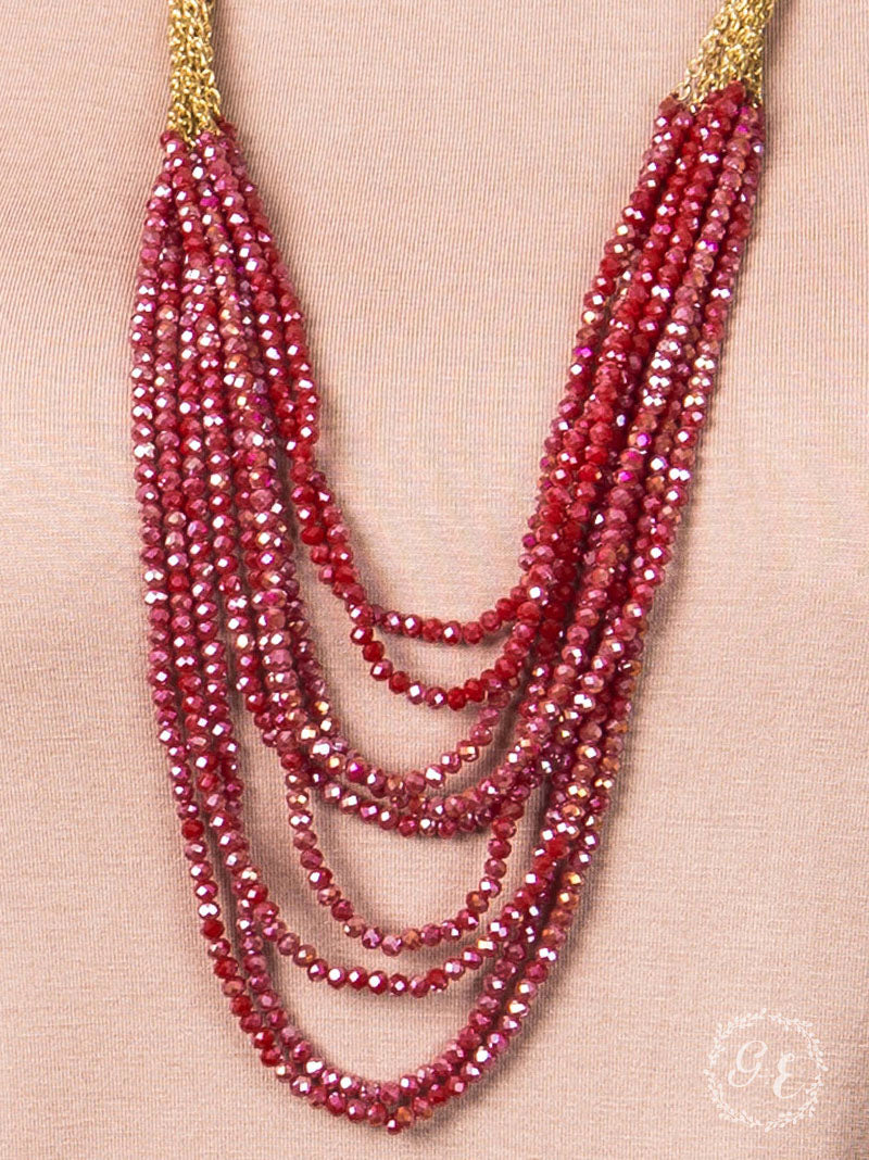 Christmas Party Ready Necklace: Red