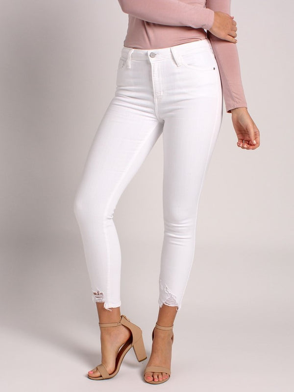 Girl Boss Jeans: Optic White