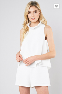 Made For You Romper: White