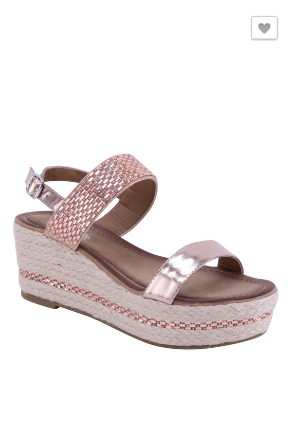 Crazy For You Sandals: Rose