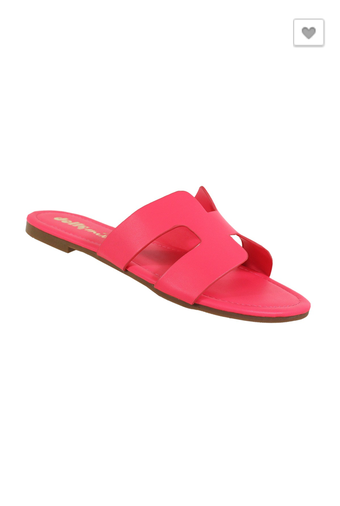 Take Me The Long Way Sandal: Neon Pink