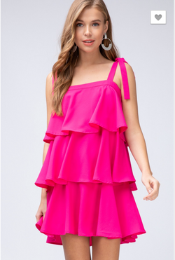Wild As Me Dress: Fuchsia