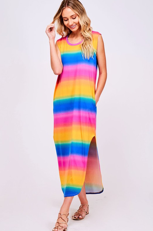 Wild And Free Dress: Rainbow