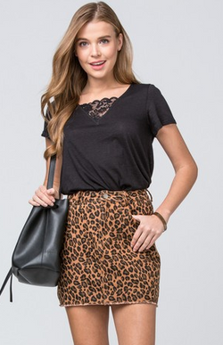 Think A Little Less Skirt: Leopard