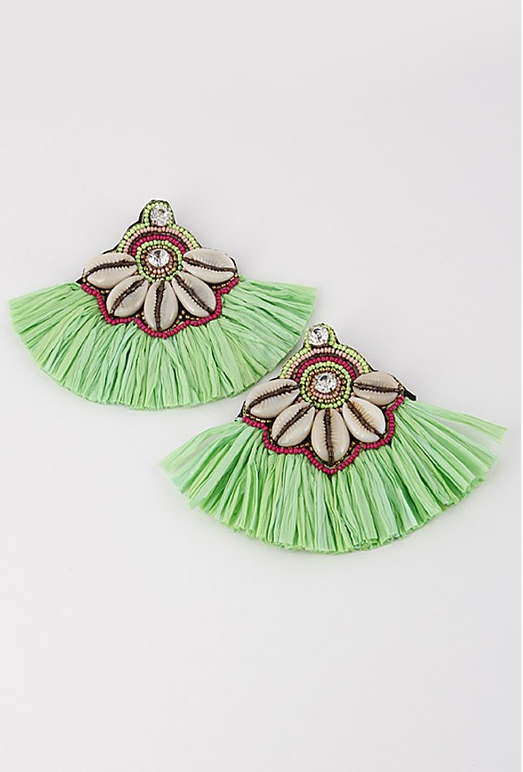 Hula Girl Earrings: Multi