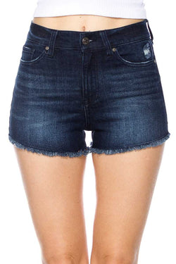Comfort In You Shorts: Dark Denim
