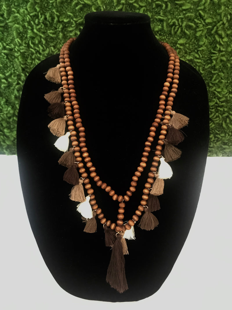 Island Vibes Necklace: Brown