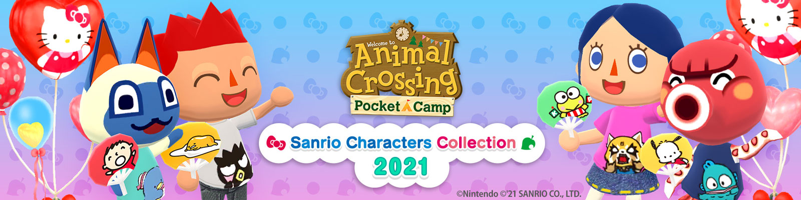 Animal Crossing: Pocket Camp X Sanrio Characters Collection 2021