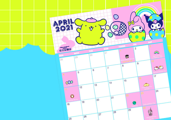 Download Your Free Friend Of The Month Calendar Here!