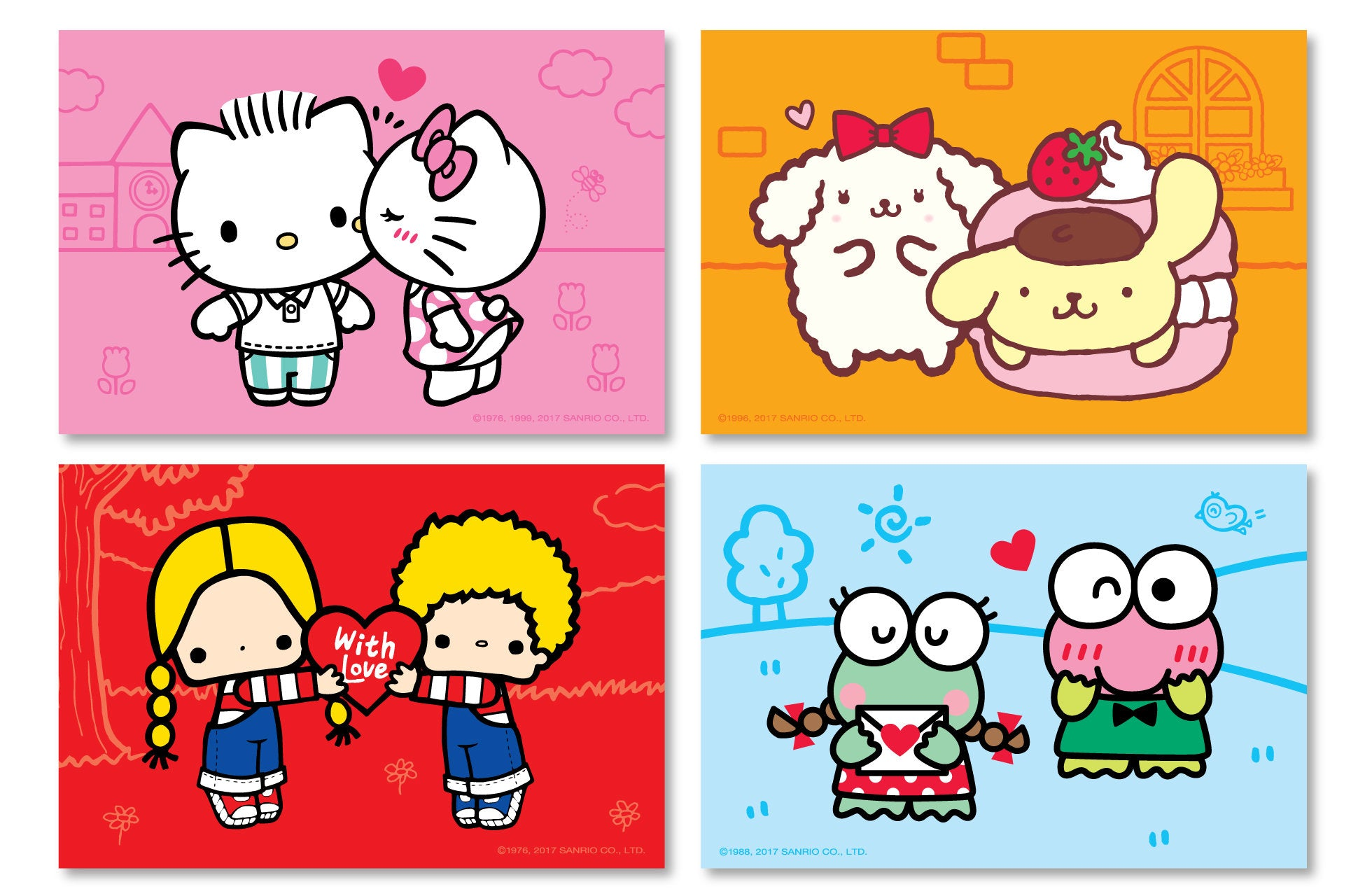 Sanrio 'Share the Love' Postcards