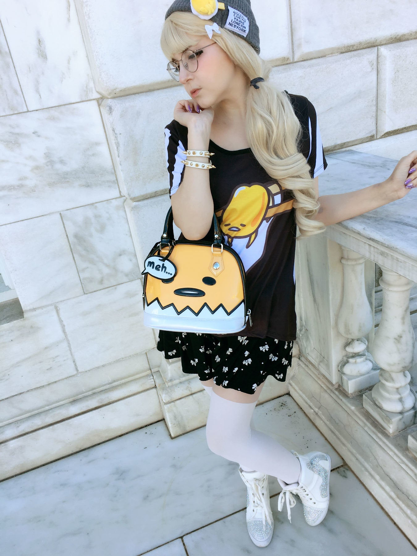 Gudetama Over Easy Outfit with Parfait Doll