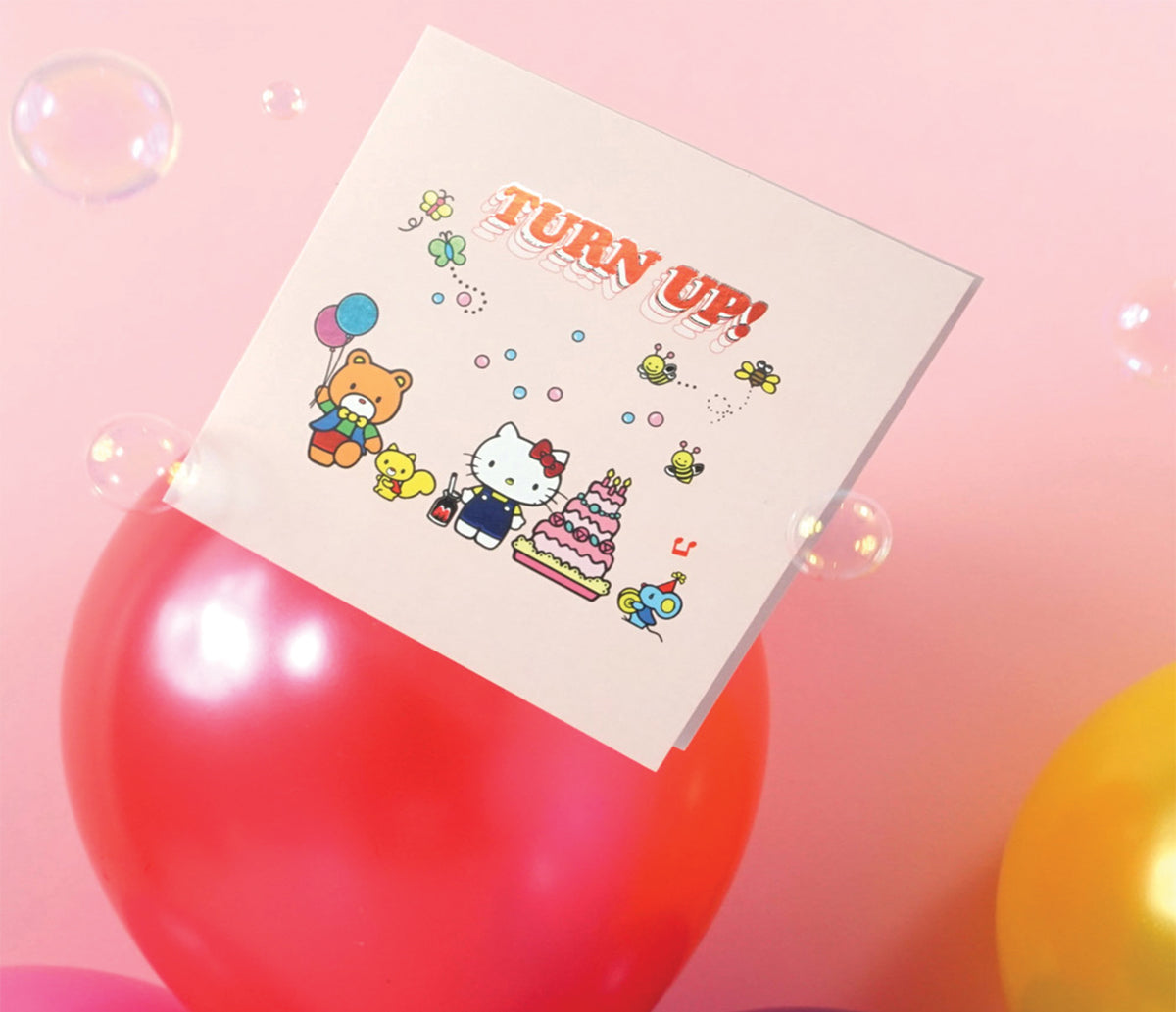 Jolly Awesome x Hello Kitty Greeting Card: Turn Up