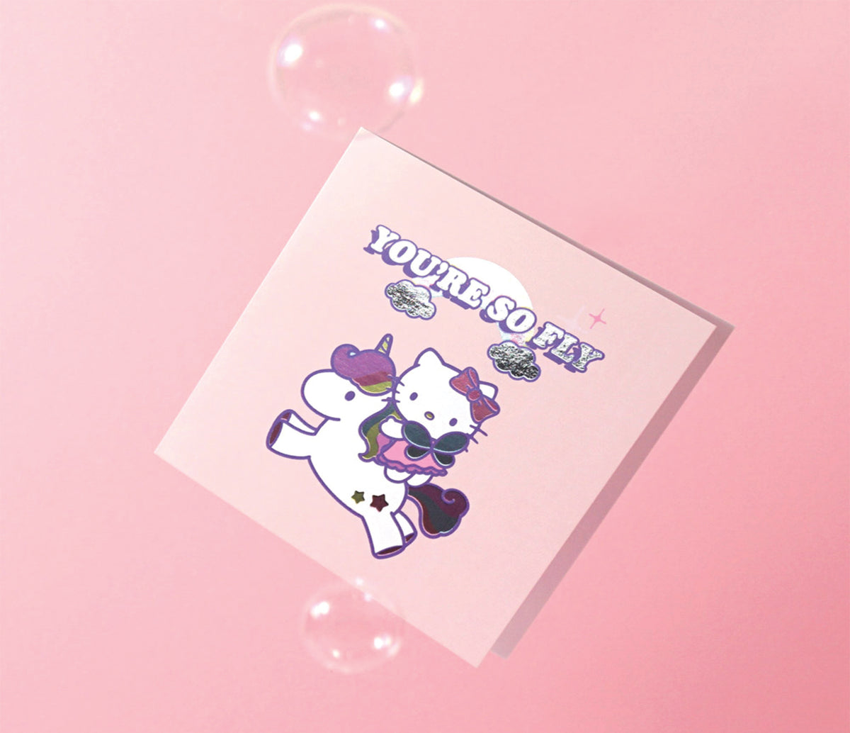 Jolly Awesome x Hello Kitty Greeting Card: So Fly