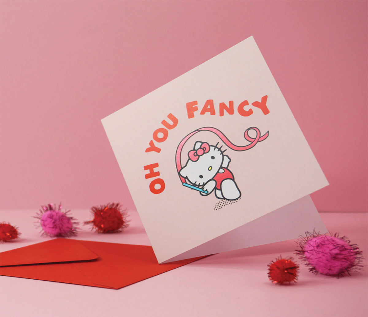 Jolly Awesome x Hello Kitty Greeting Card: Fancy