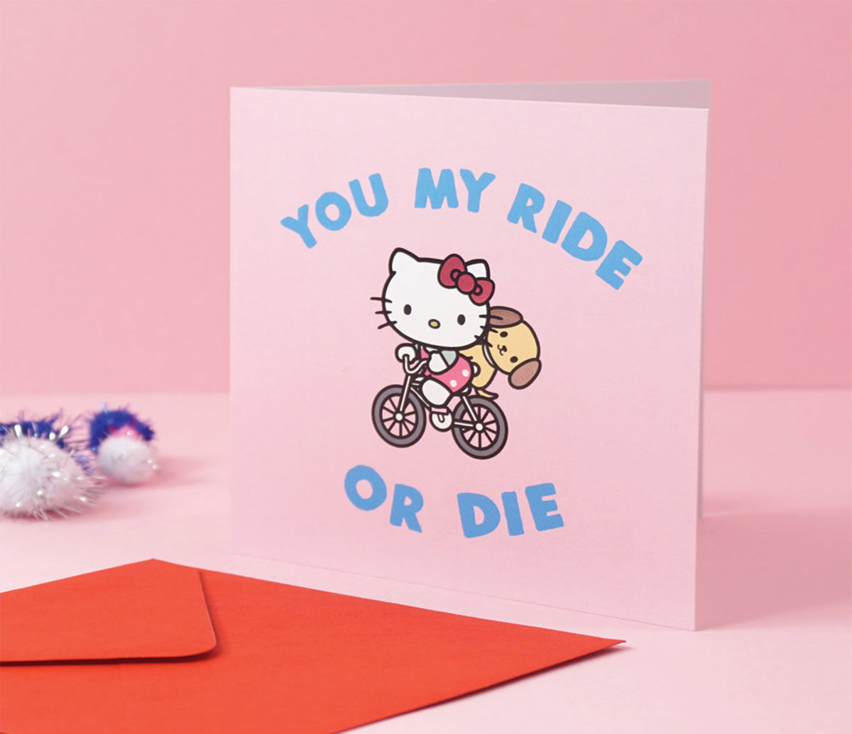 Jolly Awesome x Hello Kitty Greeting Card: Ride or Die