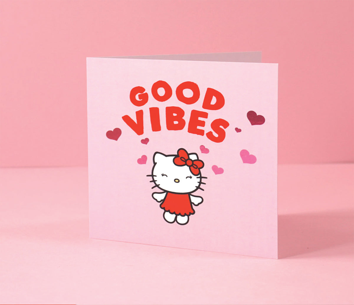 Jolly Awesome x Hello Kitty Greeting Card: Good Vibes