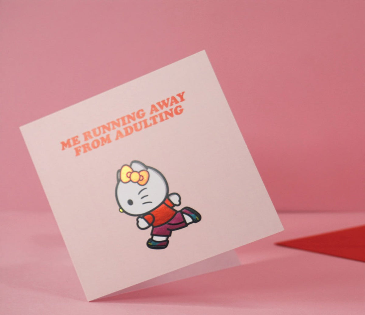 Jolly Awesome x Hello Kitty Greeting Card: Adulting