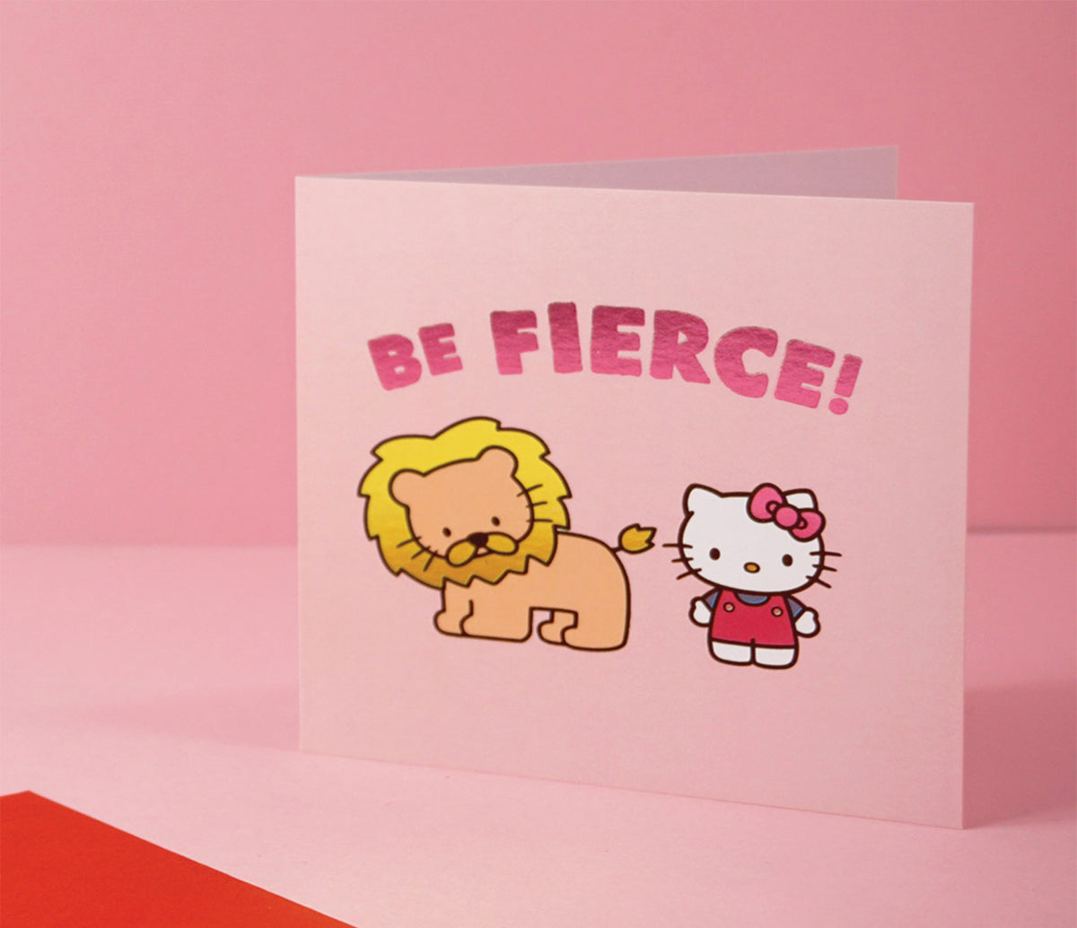 Jolly Awesome x Hello Kitty Greeting Card: Be Fierce