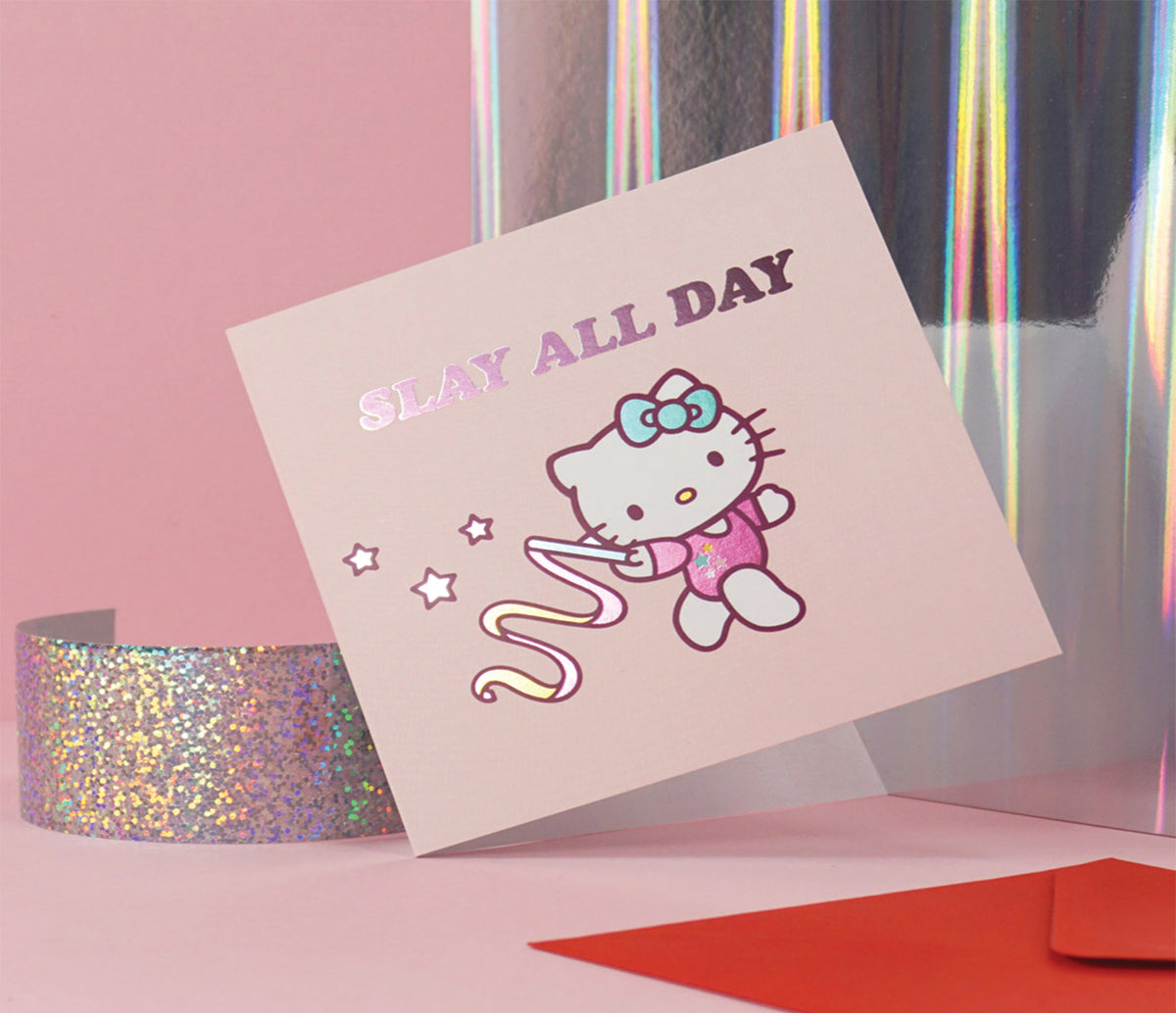 Jolly Awesome x Hello Kitty Greeting Card: Slay