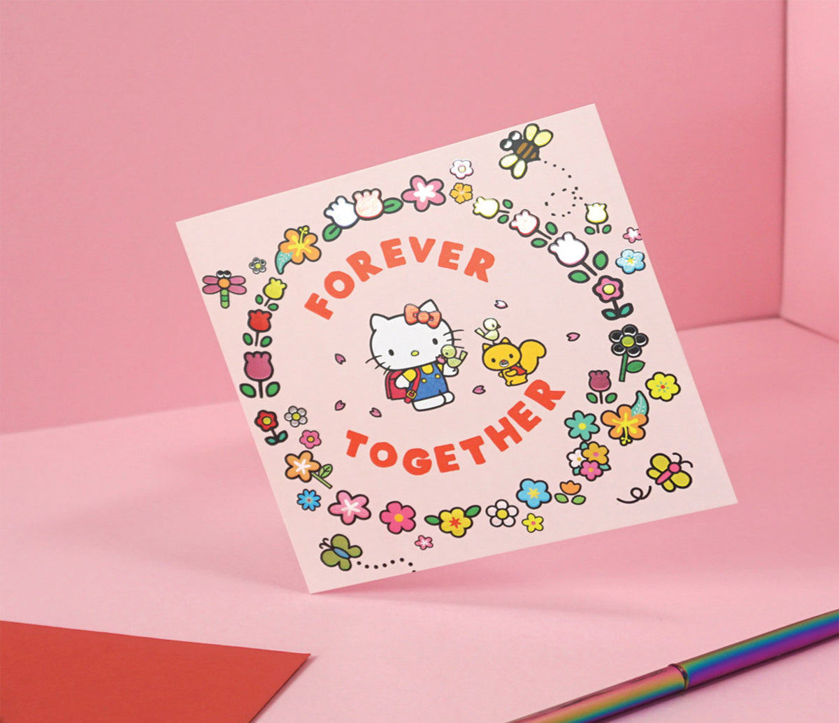 Jolly Awesome x Hello Kitty Greeting Card: Forever Together
