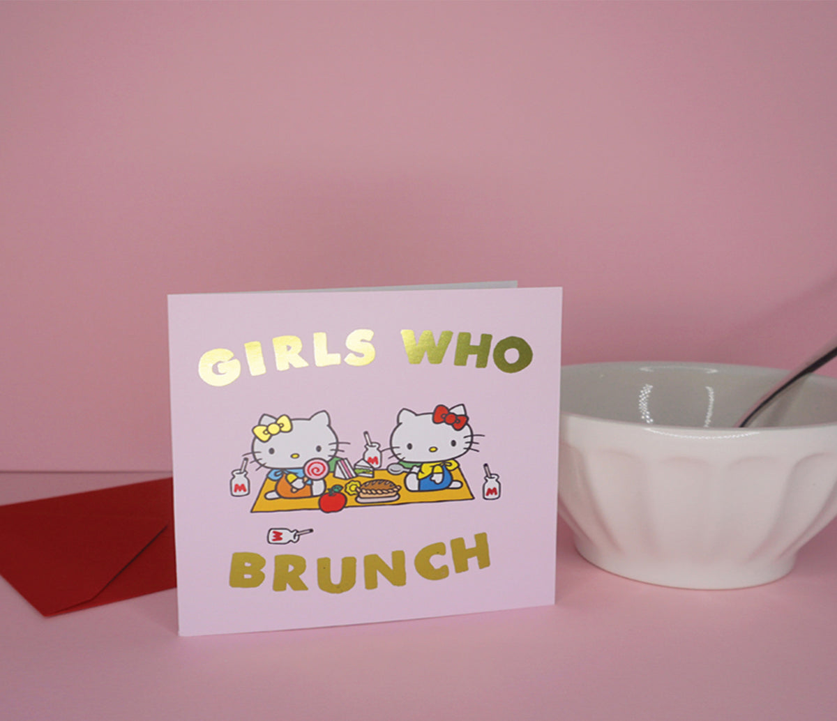 Jolly Awesome x Hello Kitty Greeting Card: Brunch