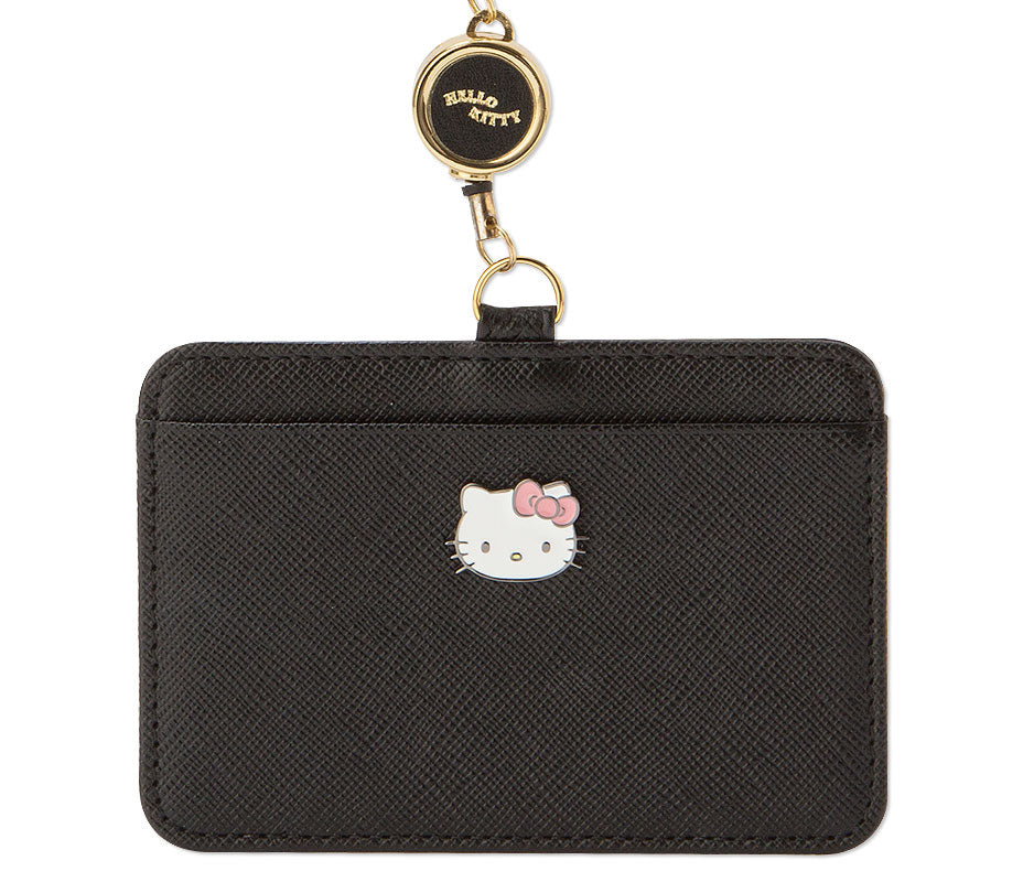 Hello Kitty Precious Saffiano Leather ID Holder Black