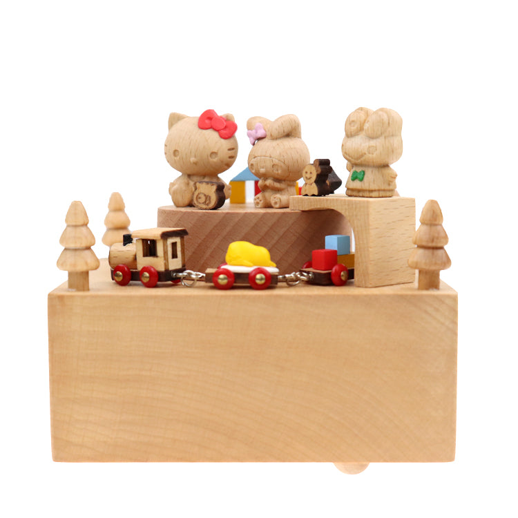 Hello Kitty & Friends Wood Music Box
