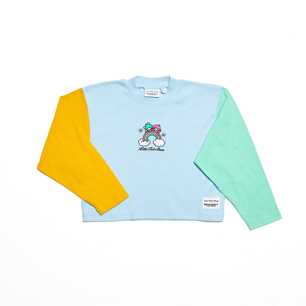 East West Shop x Little Twin Stars Color Block Shirt Blue