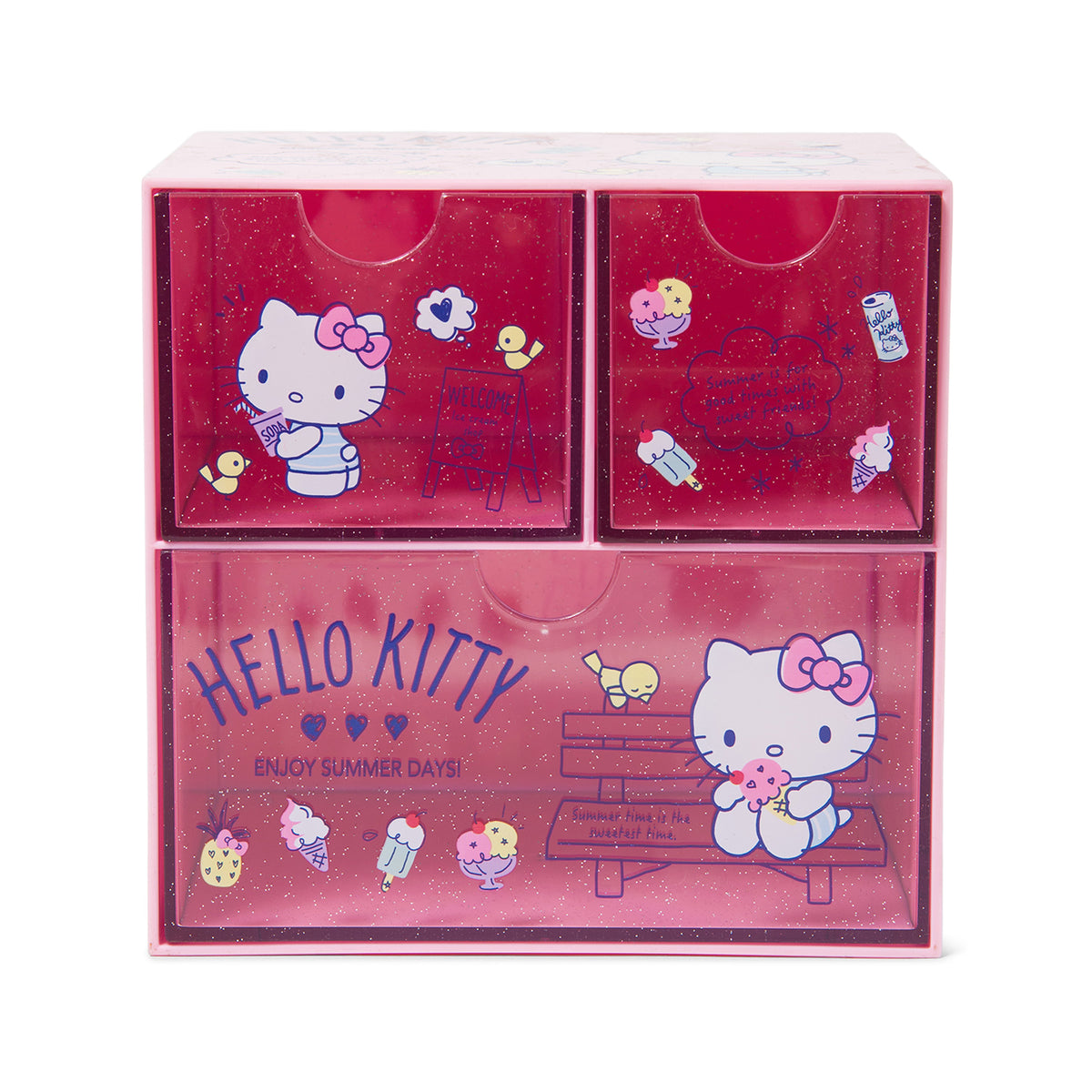 Hello Kitty 3 Drawer Sparkle Chest