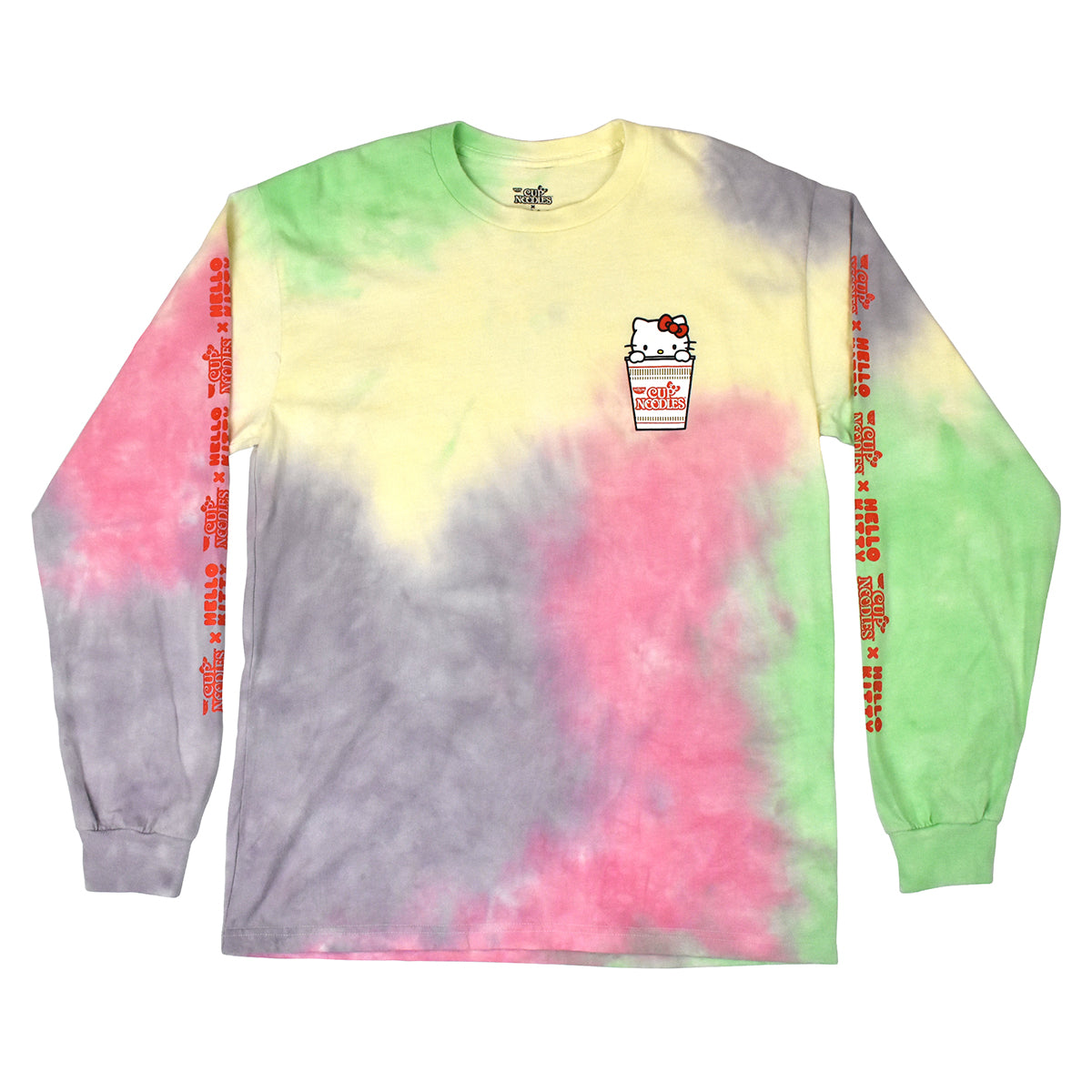 Hello Kitty x Cup Noodles Tie Dye Long Sleeve T-Shirt